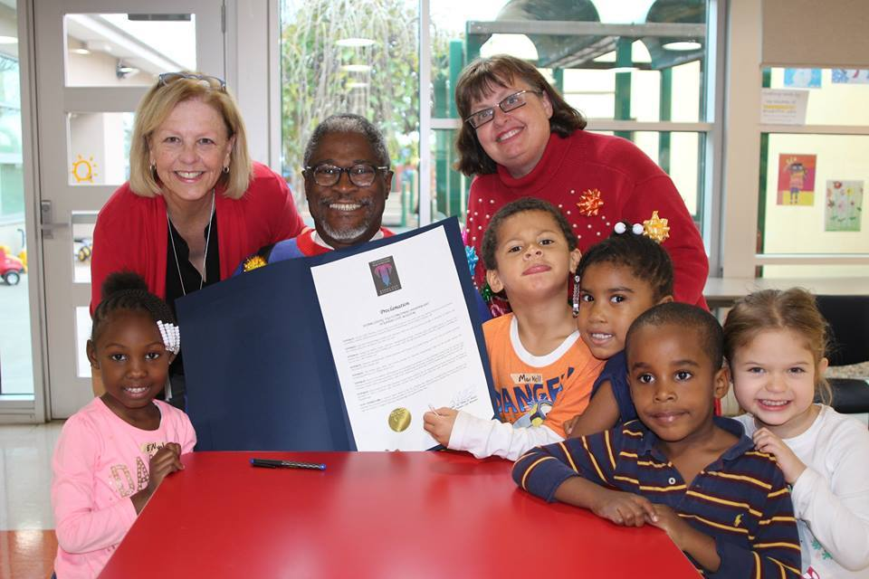 Mayor Sly James signing the the proclamation